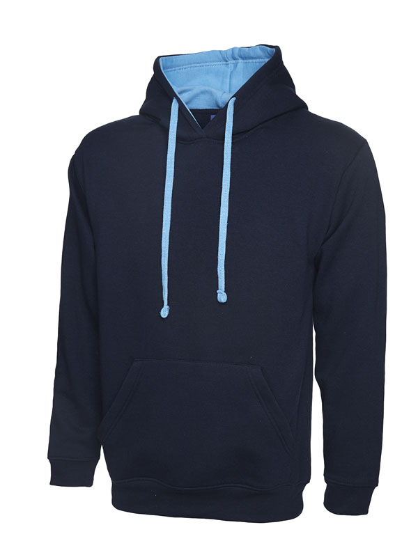 Contrast Hooded Sweatshirt UC507 navy sky
