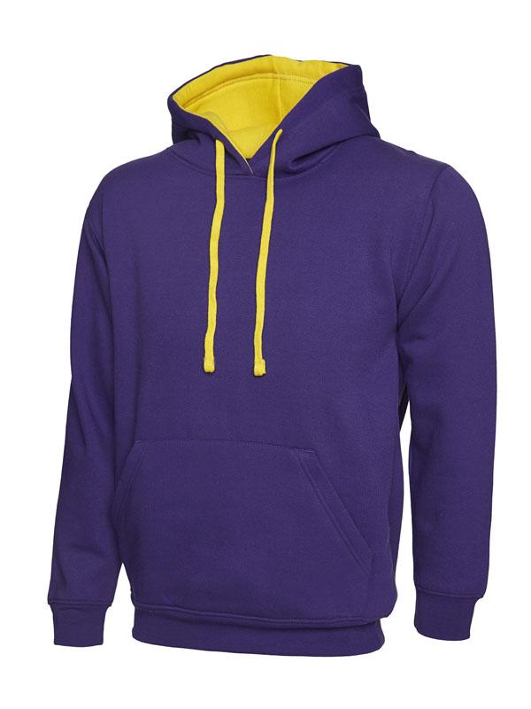 Contrast Hooded Sweatshirt UC507 pp yl