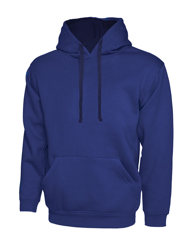 Contrast Hooded Sweatshirt UC507 royal nv