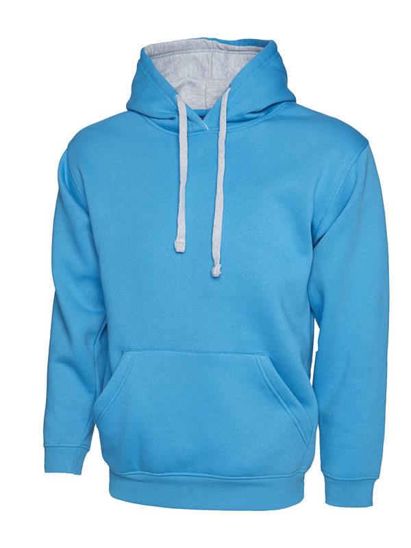 Contrast Hooded Sweatshirt UC507 sapphire hg
