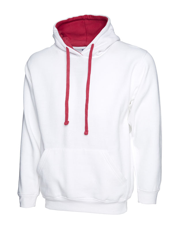 Contrast Hooded Sweatshirt UC507 white f