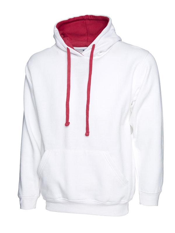Contrast Hooded Sweatshirt UC507 white f