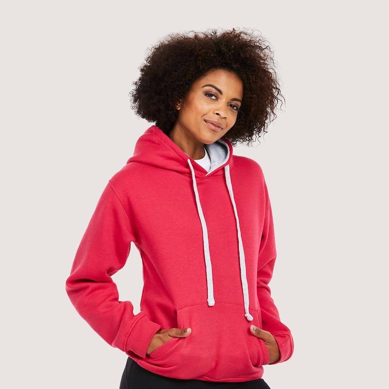 Contrast Hooded Sweatshirt UC507