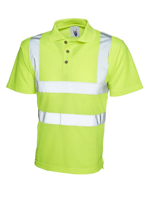Hi Viz Polo Shirt UC805YW Yellow