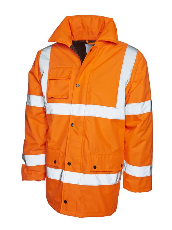 Hi vis road safety jacket UC803 orange