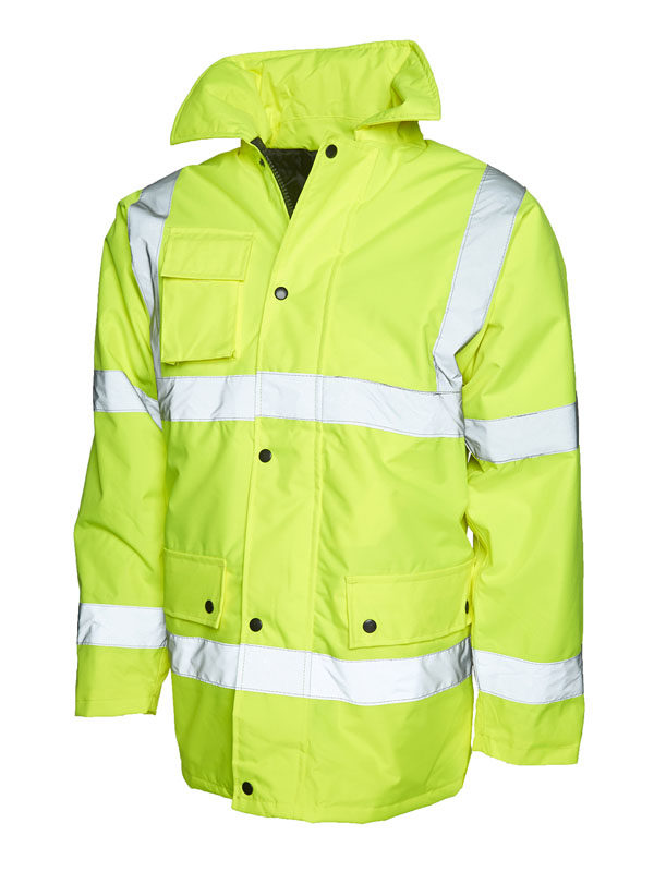 Hi vis road safety jacket UC803 yellow