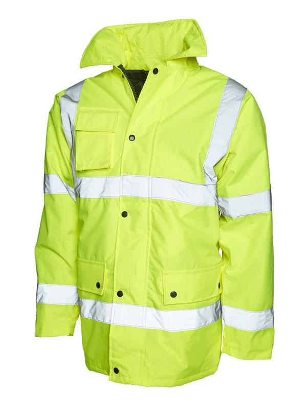Hi vis road safety jacket UC803 yellow