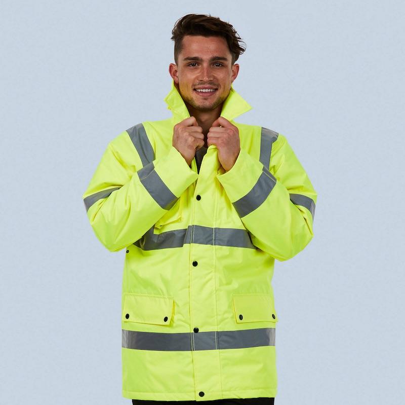 Hi vis road safety jacket UC803