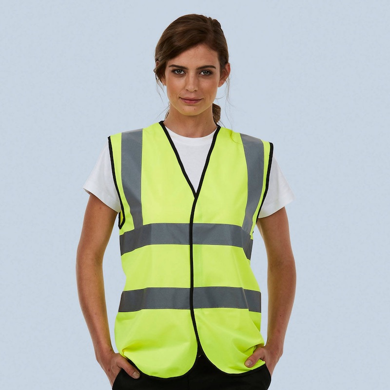 High Vis Sleeveless Safety Waist Coat UC801