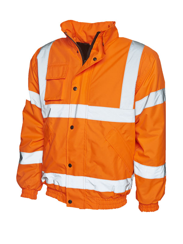 High Visibility Bomber Jacket UC804 orange