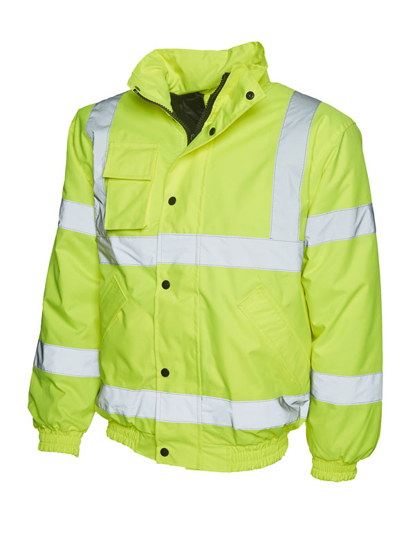 High Visibility Bomber Jacket UC804 yellow