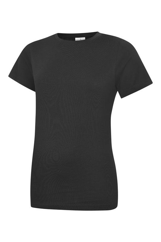 Ladies Classic Crew Neck T Shirt UC318 bk