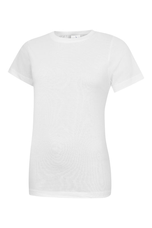 Ladies Classic Crew Neck T Shirt UC318 white