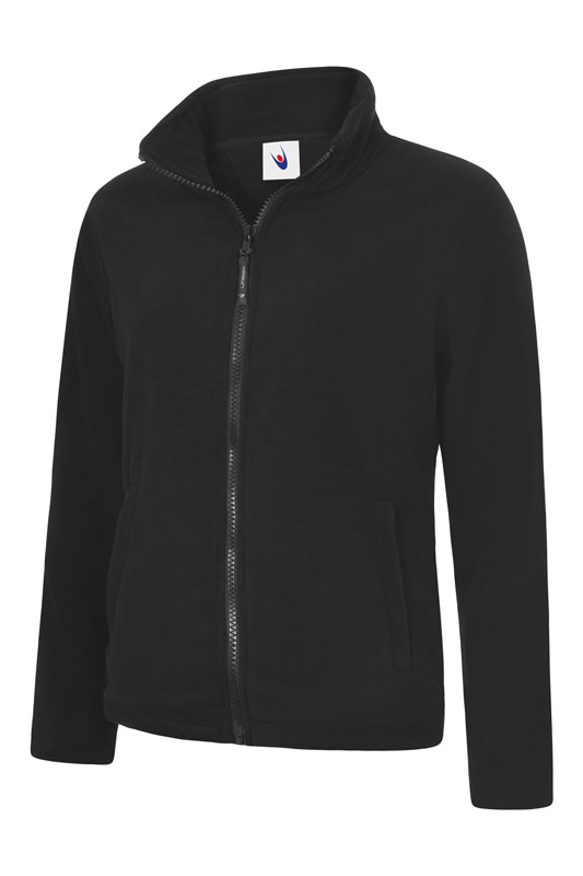 Ladies Classic Full Zip Fleece Jacket bk