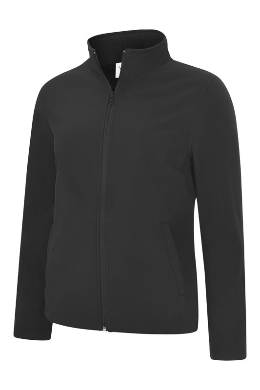 Ladies Classic Full Zip Soft Shell Jacket UC613 bk