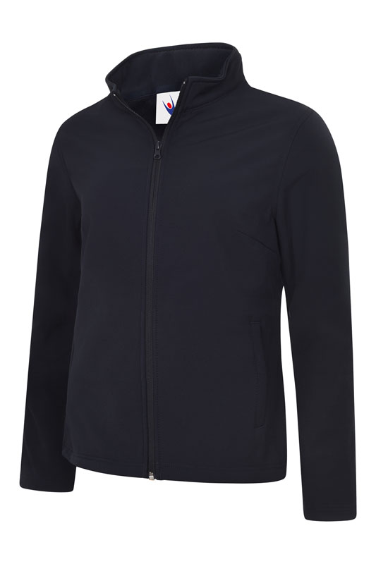 Ladies Classic Full Zip Soft Shell Jacket UC613 nv