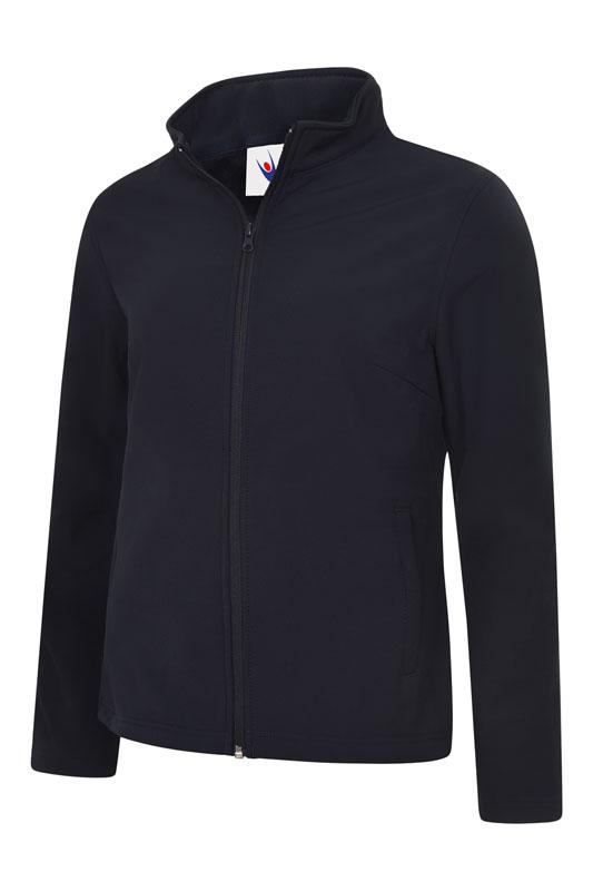 Ladies Classic Full Zip Soft Shell Jacket UC613 nv