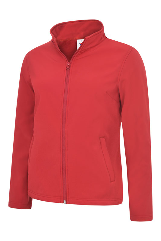 Ladies Classic Full Zip Soft Shell Jacket UC613 red