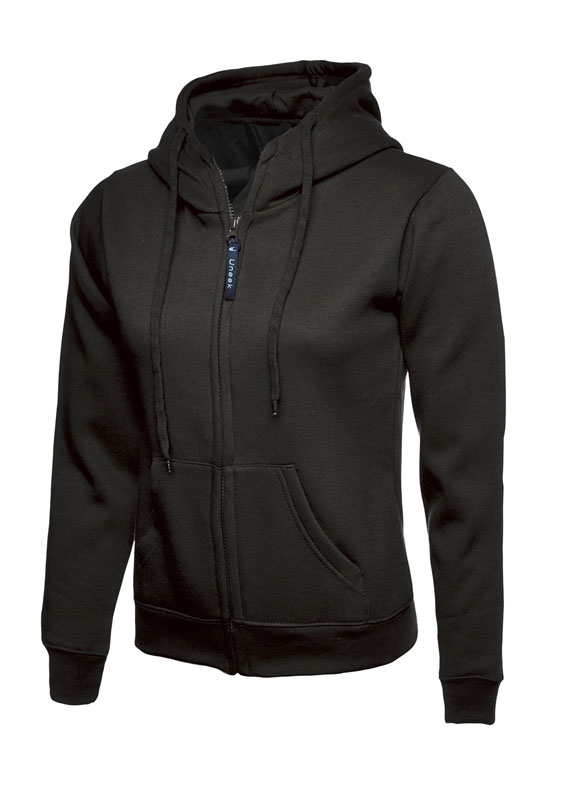 Ladies Classic Full Zip Sweatshirt 300gsm UC505 bk