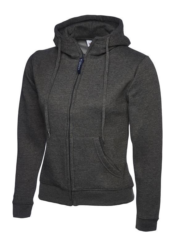 Ladies Classic Full Zip Sweatshirt 300gsm UC505 charcoal