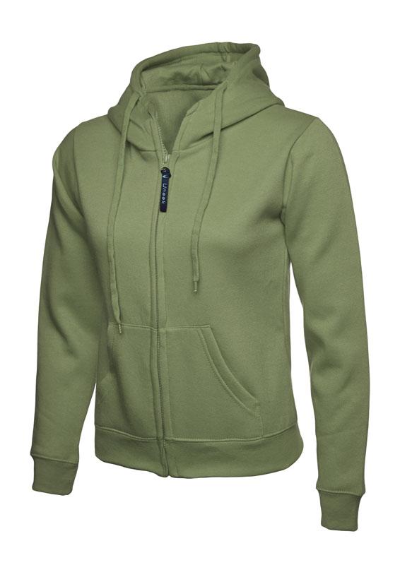 Ladies Classic Full Zip Sweatshirt 300gsm UC505 olive