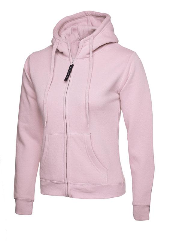 Ladies Classic Full Zip Sweatshirt 300gsm UC505 pink