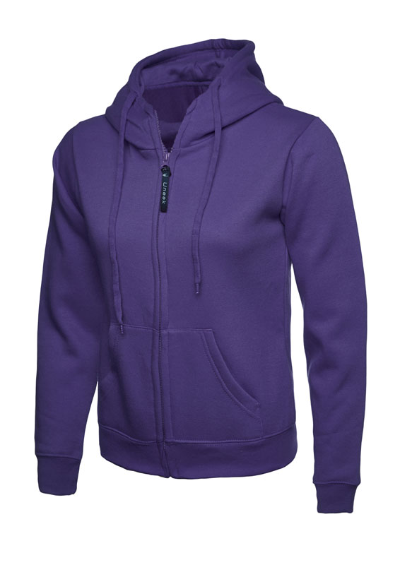 Ladies Classic Full Zip Sweatshirt 300gsm UC505 purple