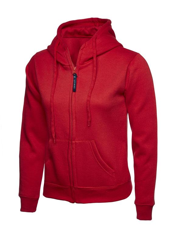 Ladies Classic Full Zip Sweatshirt 300gsm UC505 red