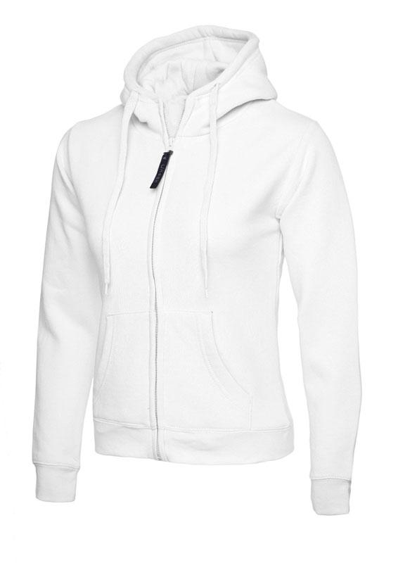 Ladies Classic Full Zip Sweatshirt 300gsm UC505 white