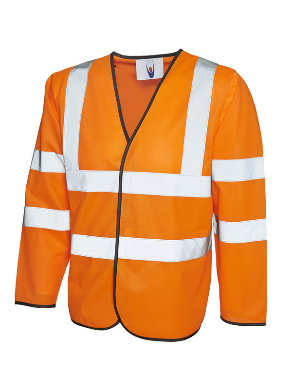 Long Sleeve Safety Waist Coat orange UC802