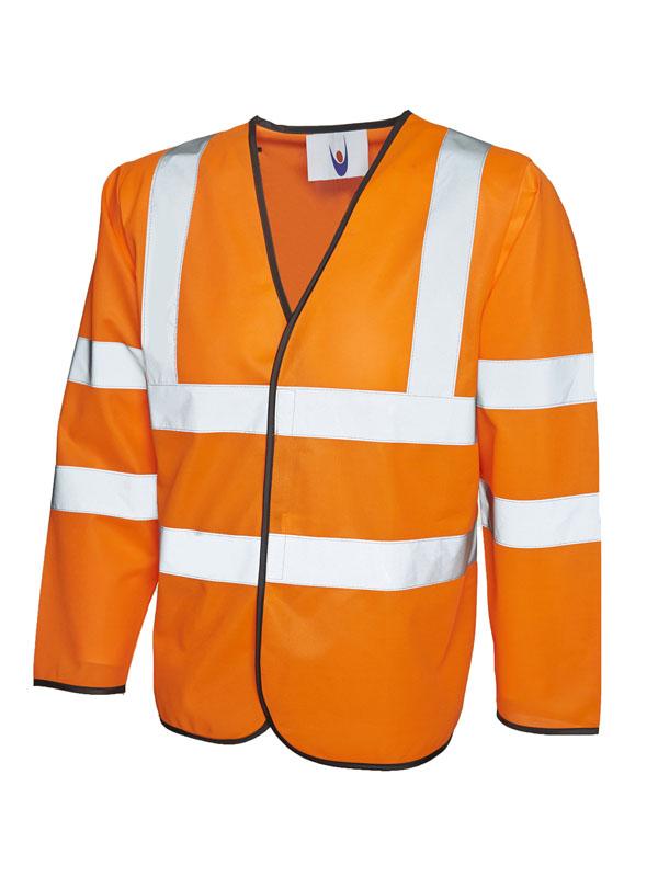 Long Sleeve Safety Waist Coat orange UC802