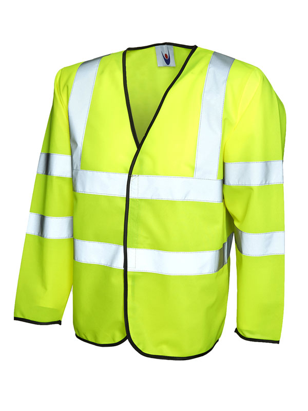 Long Sleeve Safety Waist Coat yellow UC802