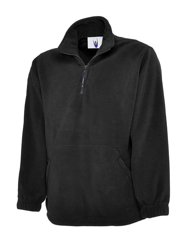 Premium 1 4 Zip Micro Fleece Jacket bk