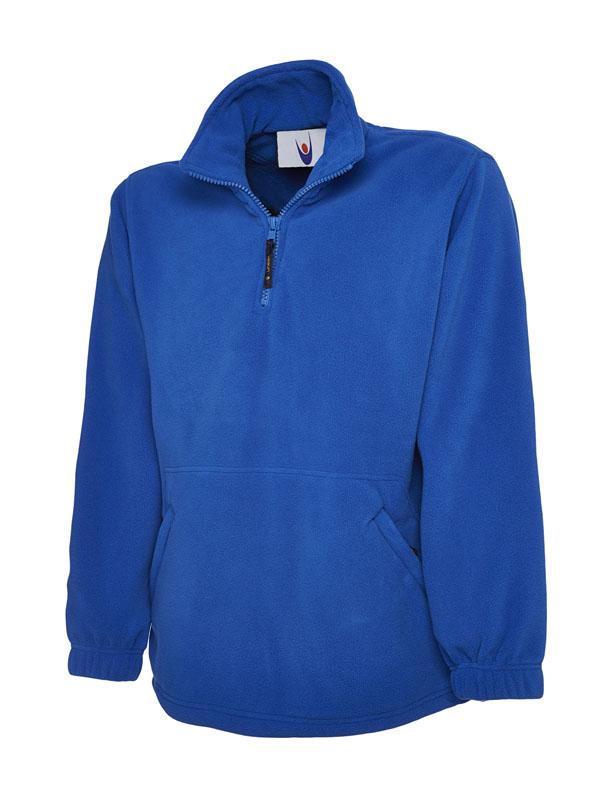 Premium 1 4 Zip Micro Fleece Jacket blue