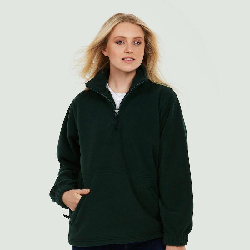 Premium 1 4 Zip Micro Fleece Jacket