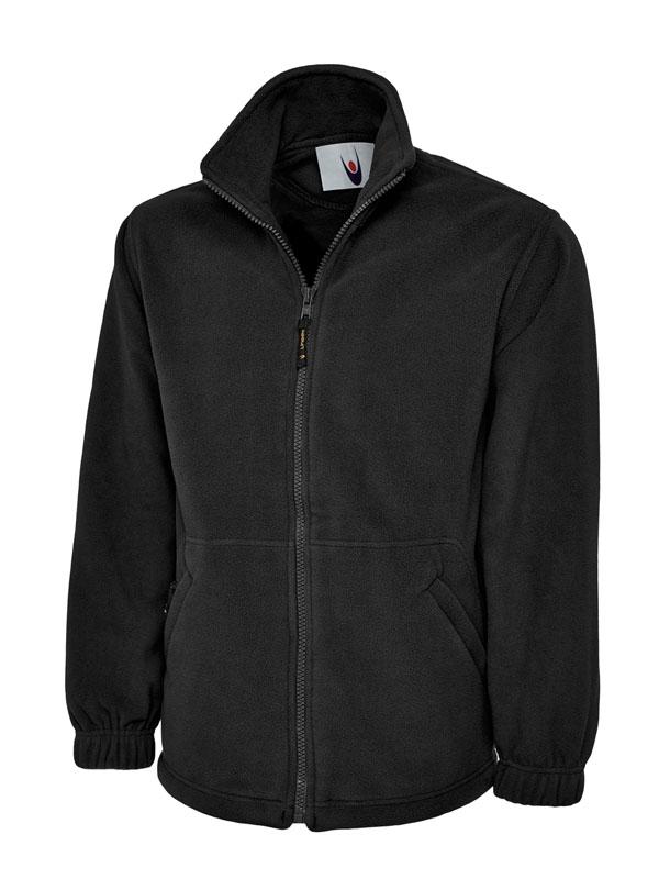Premium Full Zip Micro Fleece Jacket UC601 bk