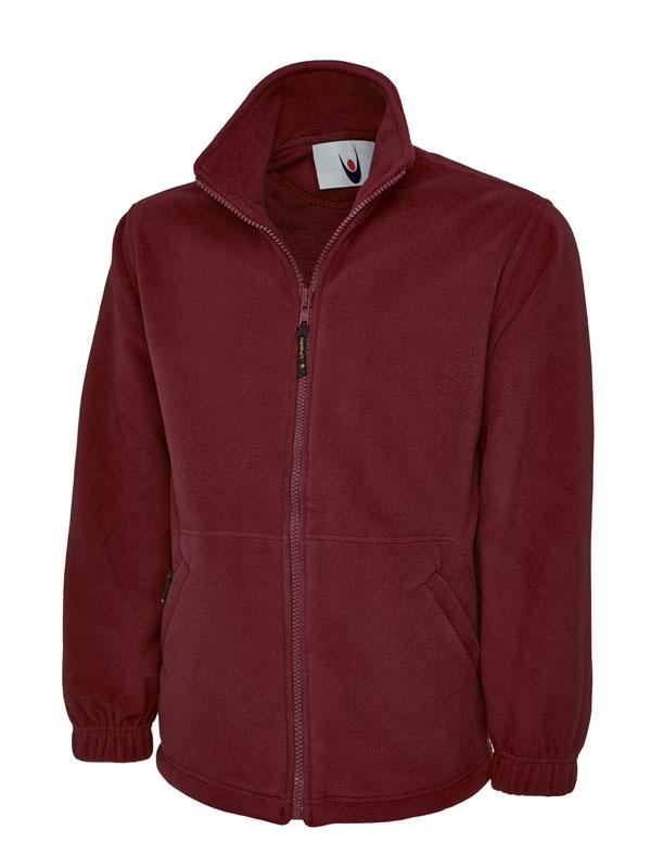 Premium Full Zip Micro Fleece Jacket UC601 maroon