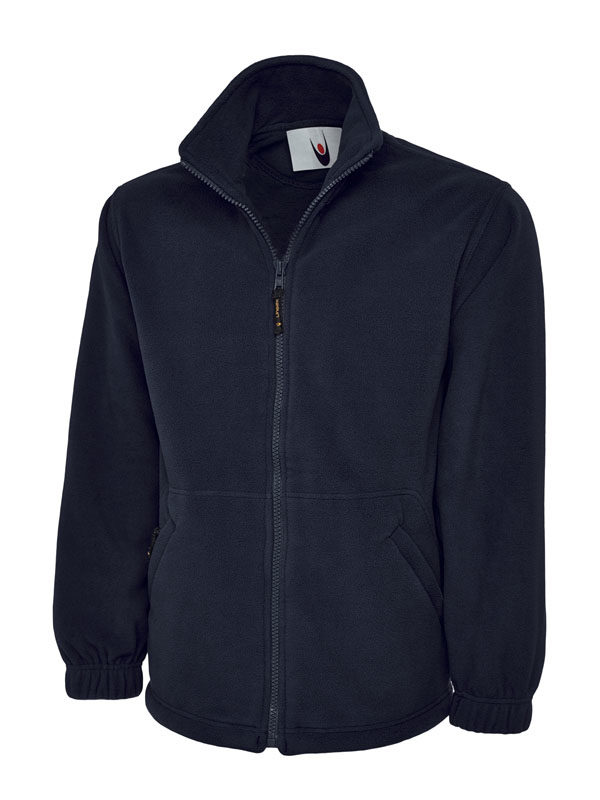Premium Full Zip Micro Fleece Jacket UC601 navy