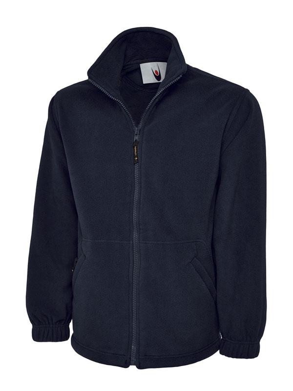 Premium Full Zip Micro Fleece Jacket UC601 navy