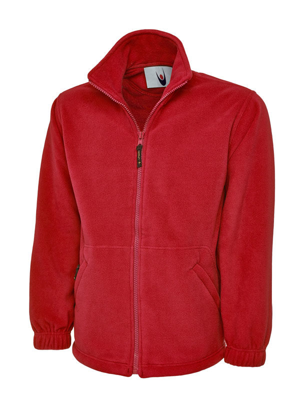 Premium Full Zip Micro Fleece Jacket UC601 red