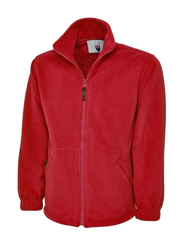 Premium Full Zip Micro Fleece Jacket UC601 red