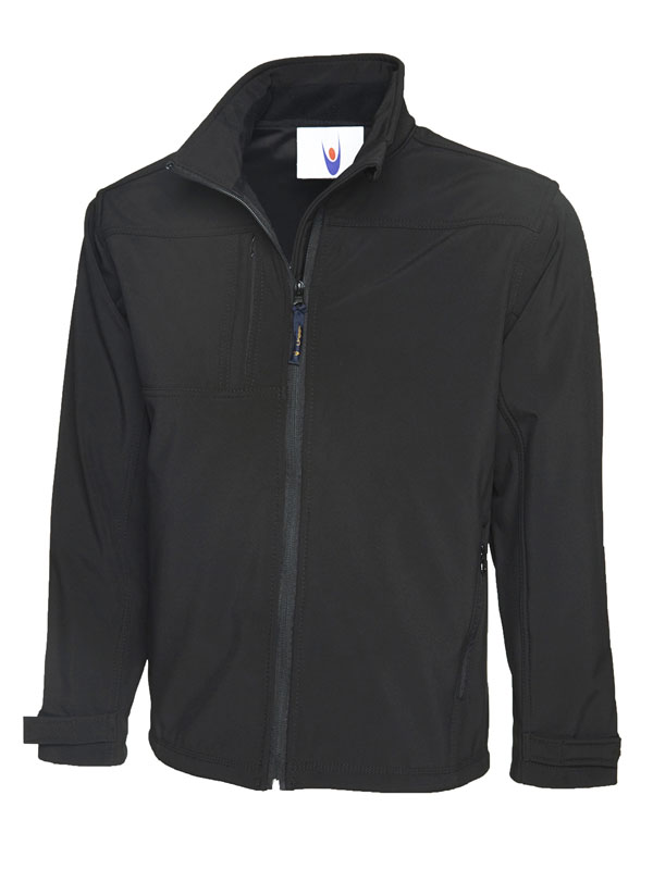 Premium Full Zip Soft Shell Jacket UC611 bk