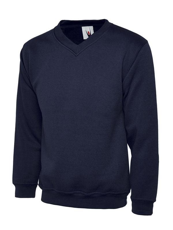 Premium V Neck Sweatshirt UC204 navy