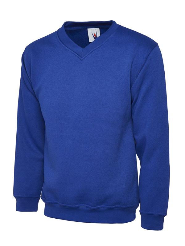 Premium V Neck Sweatshirt UC204 royal