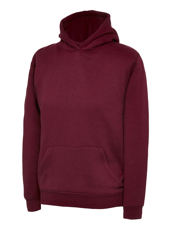 childrens hooded sweatshirt 300gsm UC503 maroon