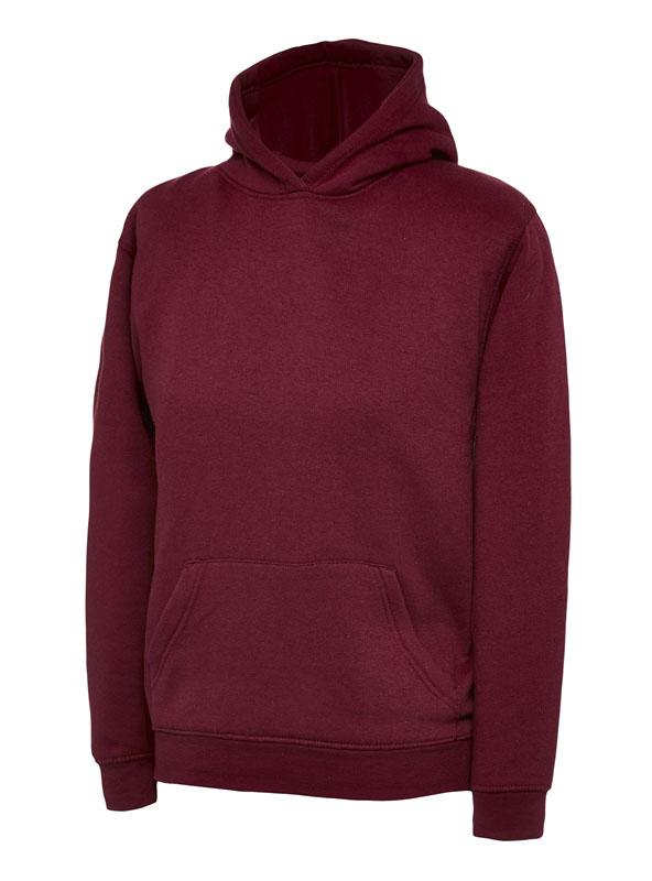 childrens hooded sweatshirt 300gsm UC503 maroon