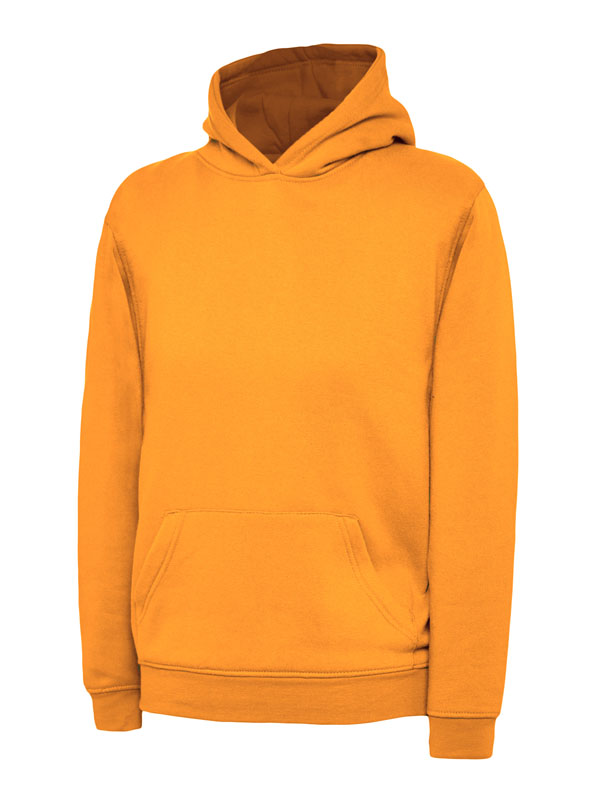 childrens hooded sweatshirt 300gsm UC503 orange