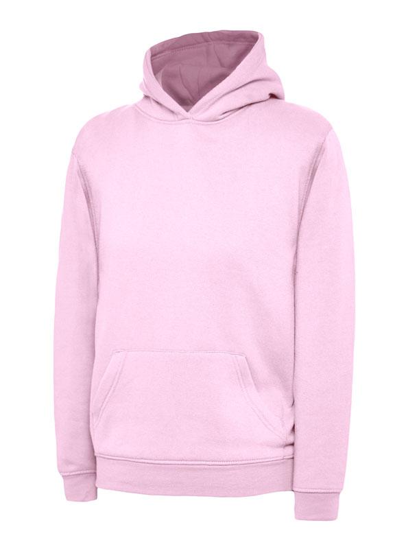 childrens hooded sweatshirt 300gsm UC503 pink