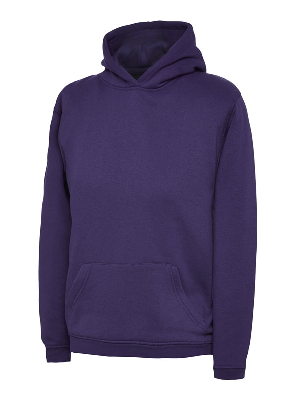 childrens hooded sweatshirt 300gsm UC503 purple