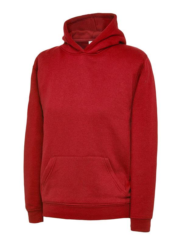 childrens hooded sweatshirt 300gsm UC503 red